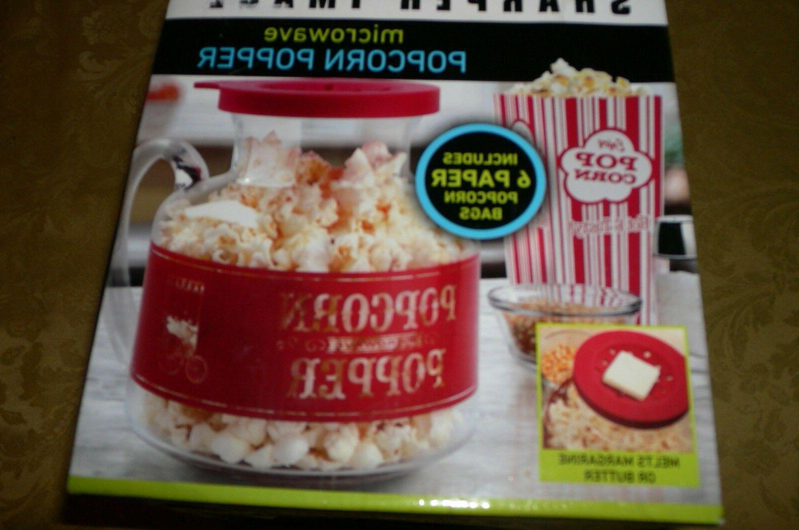 microwave popcorn popper solid glass lid bags