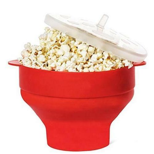 Silicone Microwave Popcorn Popper Maker Collapsible Hot Air