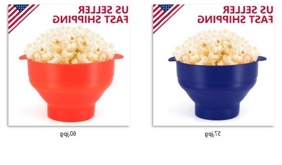 microwaveable silicone popcorn popper maker bowl free