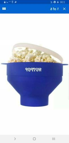 New HOTPOP Collapsible Microwave Popcorn Popper with Handles