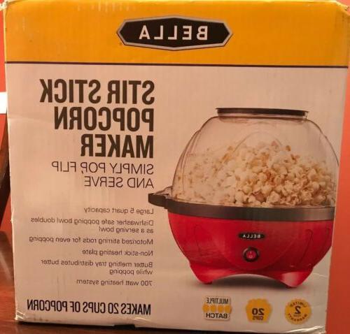 new sealed popcorn maker popper machine large