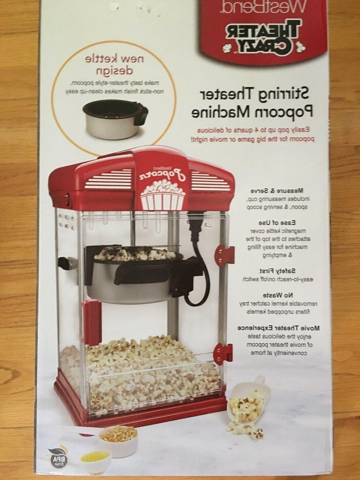 new stirring theater crazy popcorn machine popper