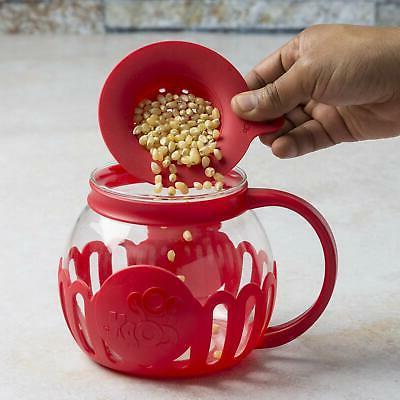 Ecolution Original Microwave Micro-Pop Popcorn Popper, Glass, 3-in1