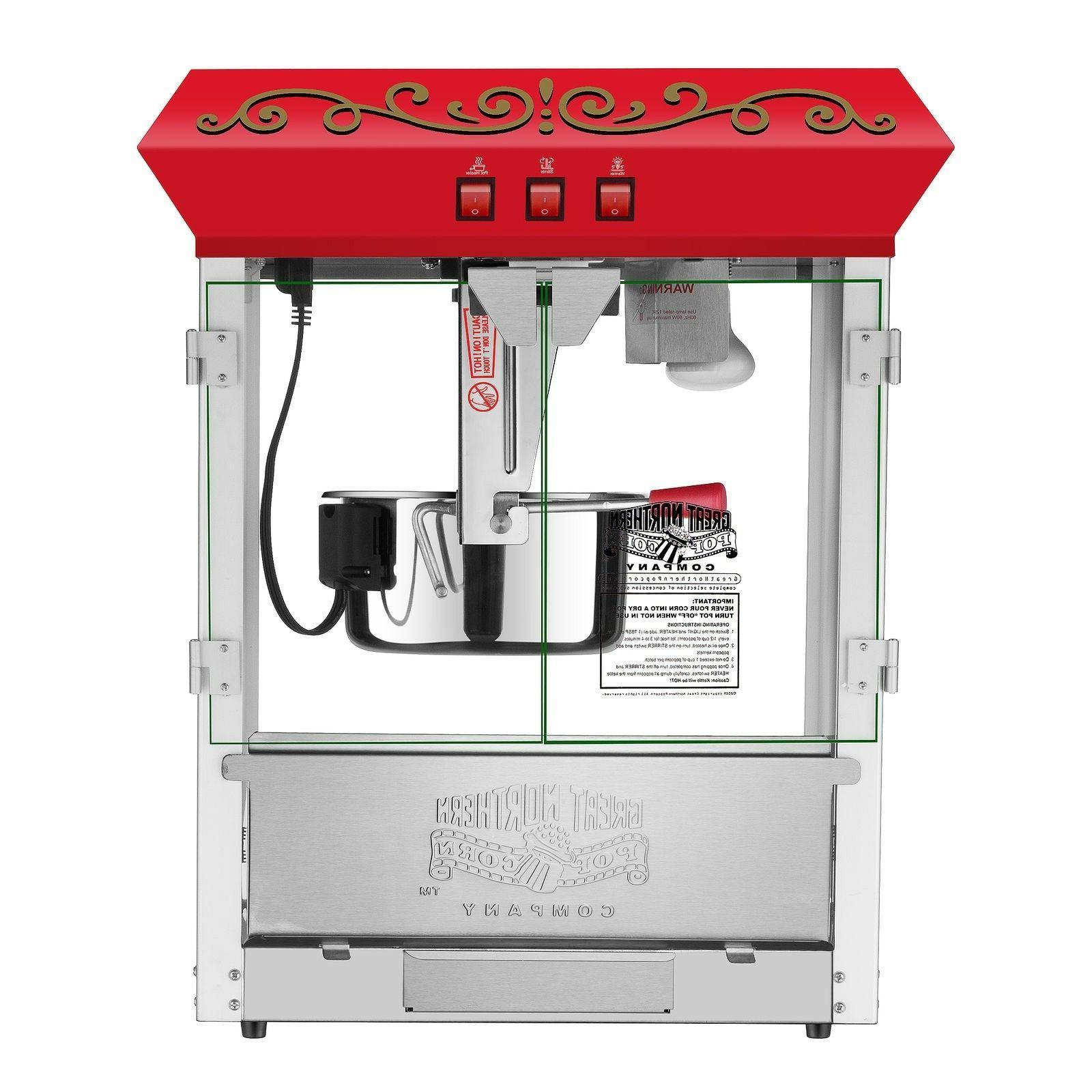 Great 10 oz. Popcorn Machine with - Red