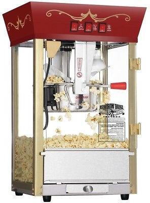 popcorn machine 8 oz warming light kernel