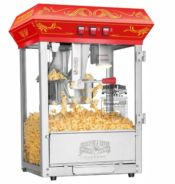 Great Popcorn 8OZ Red With Retro Electric Vintage Popper