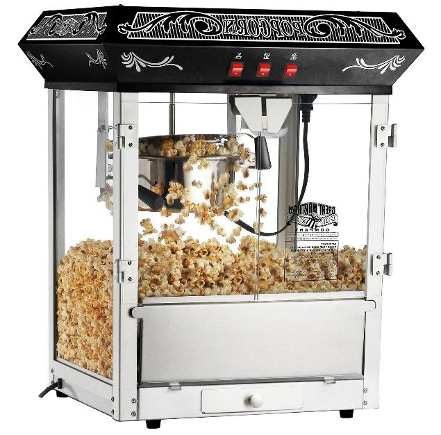 popcorn machine maker 8oz popper black vintage
