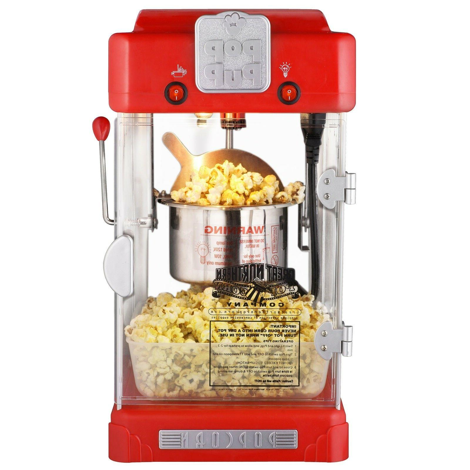 popcorn machine pop pup retro style electric