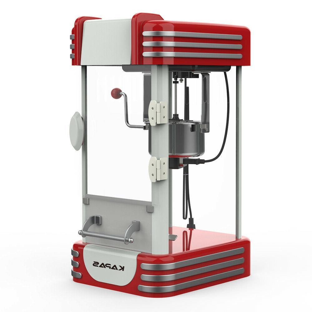 popcorn machine red tabletop popcorn popper maker