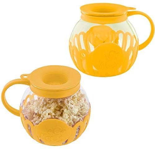 popcorn maker glass microwave