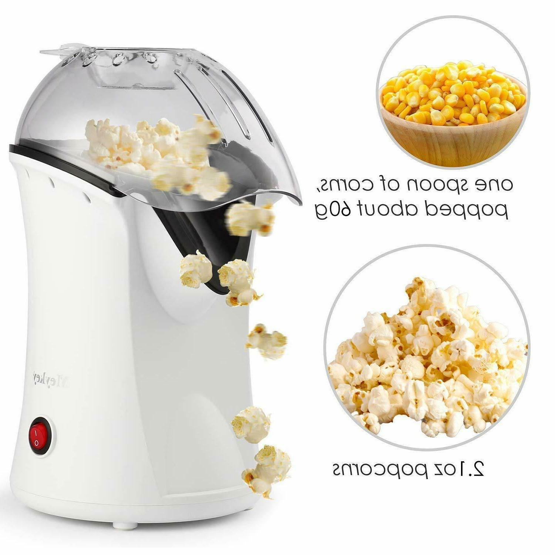 Homdox Hot Air Popcorn Machine Mini Snack Home