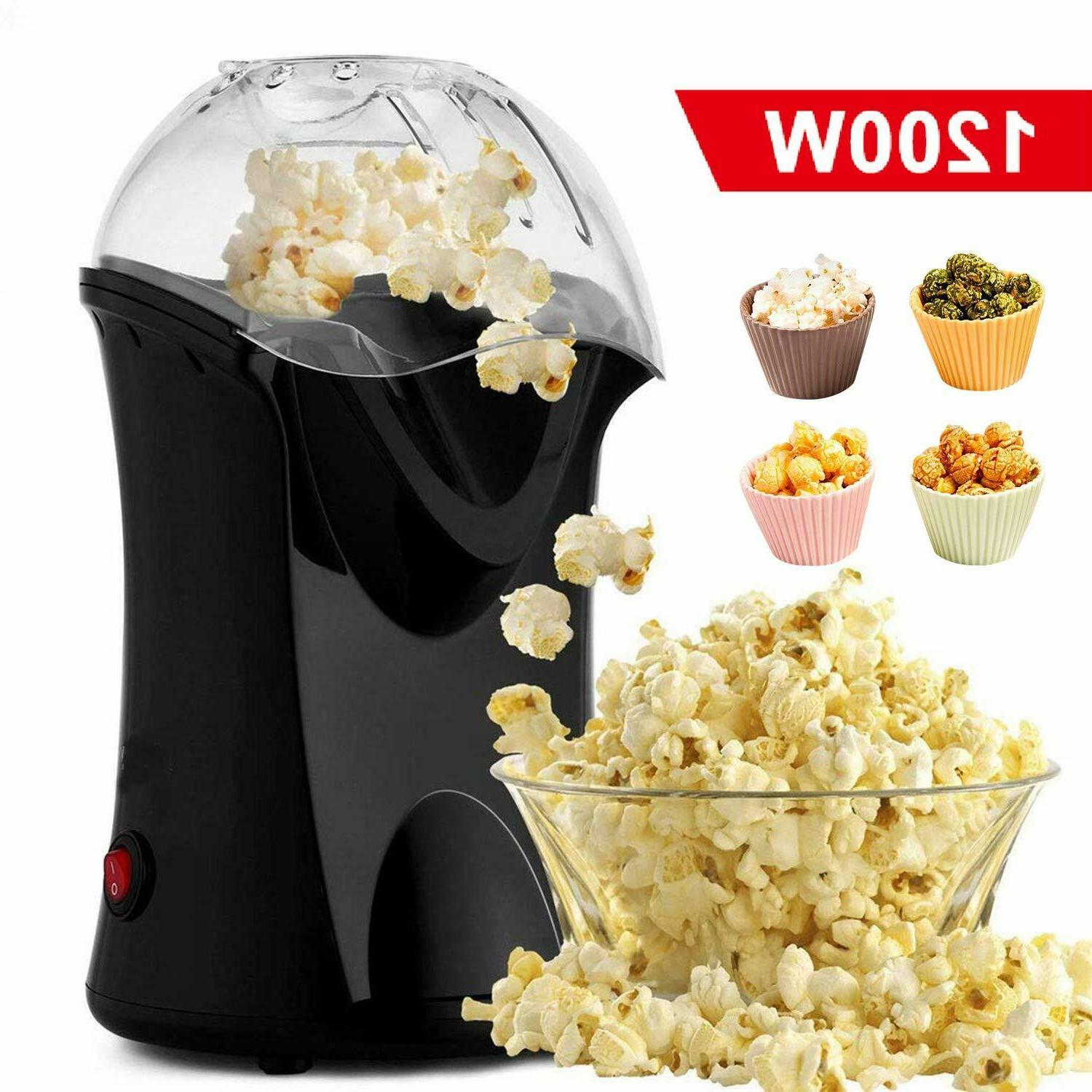 Hot Air Popcorn Popper With Wide Mouth Design,1200W 60Hz Pop