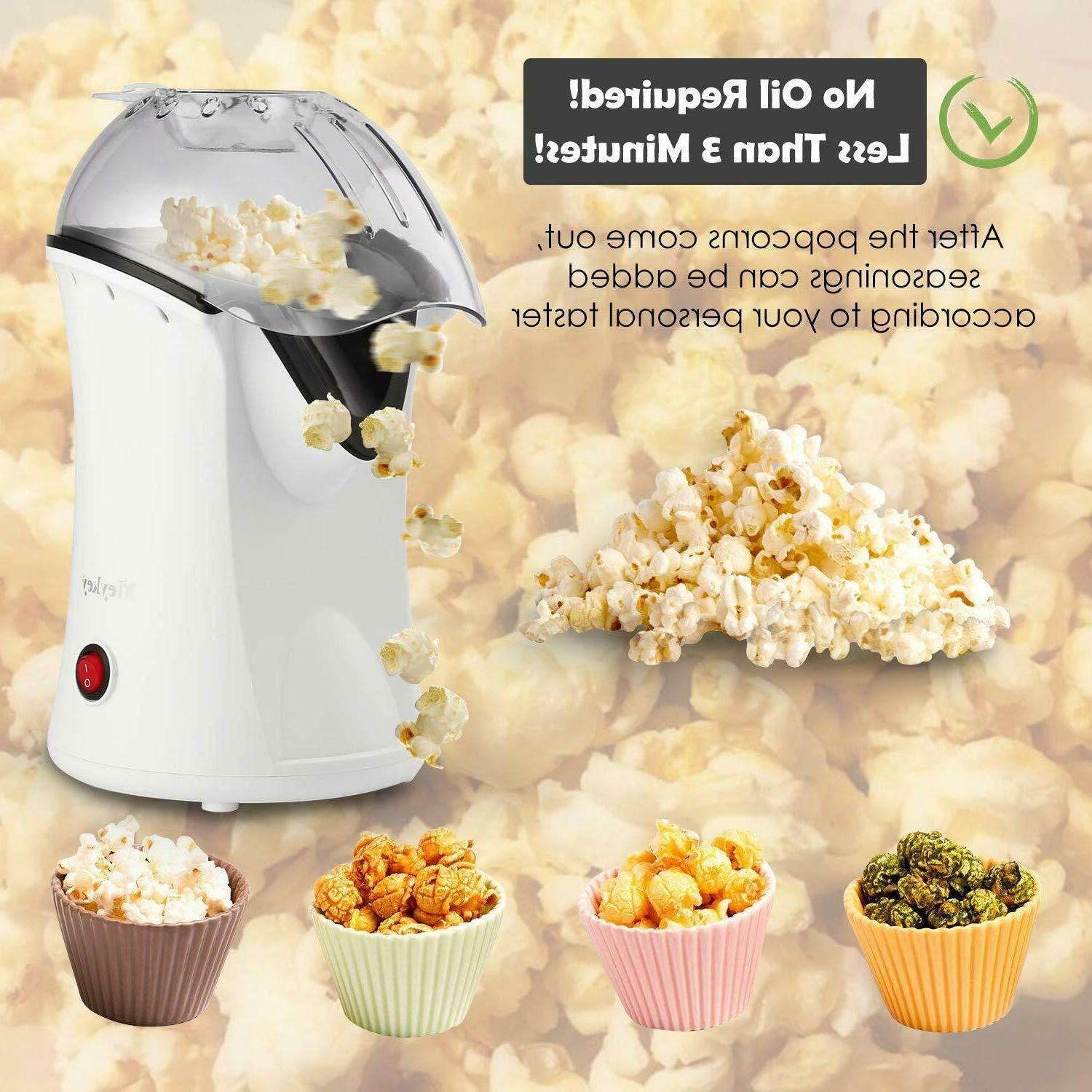 Popcorn Maker 1200W Hot Popper Healthy Machine Oil Need