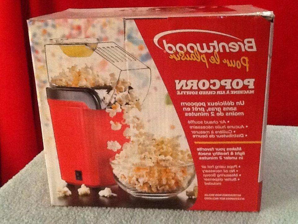 popcorn maker popper pops using hot air