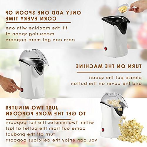 Popcorn Popper, Hot Air Popcorn Removable Healthy Maker for Needed