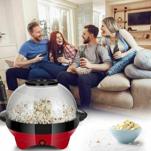 6QT Popcorn Machine Electric Hot Oil Popcorn Maker