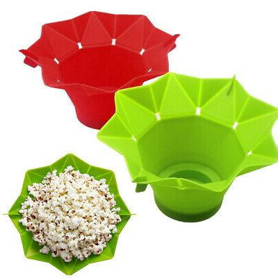 Popcorn Popper Maker Silicona Microwave Fold de cocina