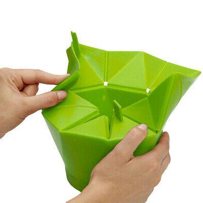 Popcorn Popper Maker Silicona Microwave Fold Bucket de