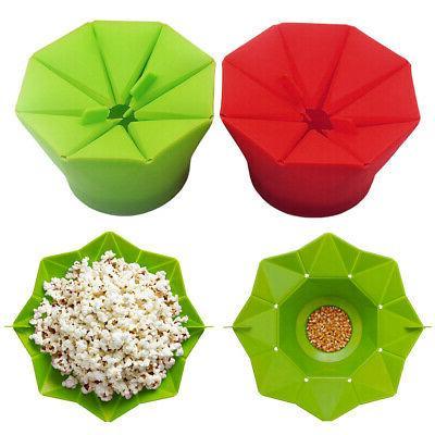 popcorn popper maker silicona microwave fold bucket