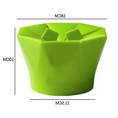 Popcorn Popper Silicona Microwave Fold de cocina