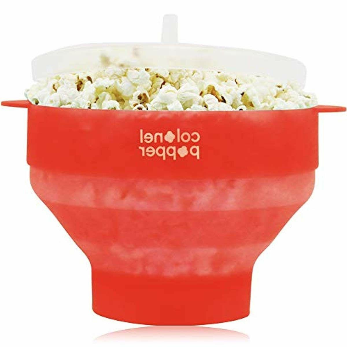 Popcorn Silicone Microwave Maker Popper Collapsible Healthy Pop Popper