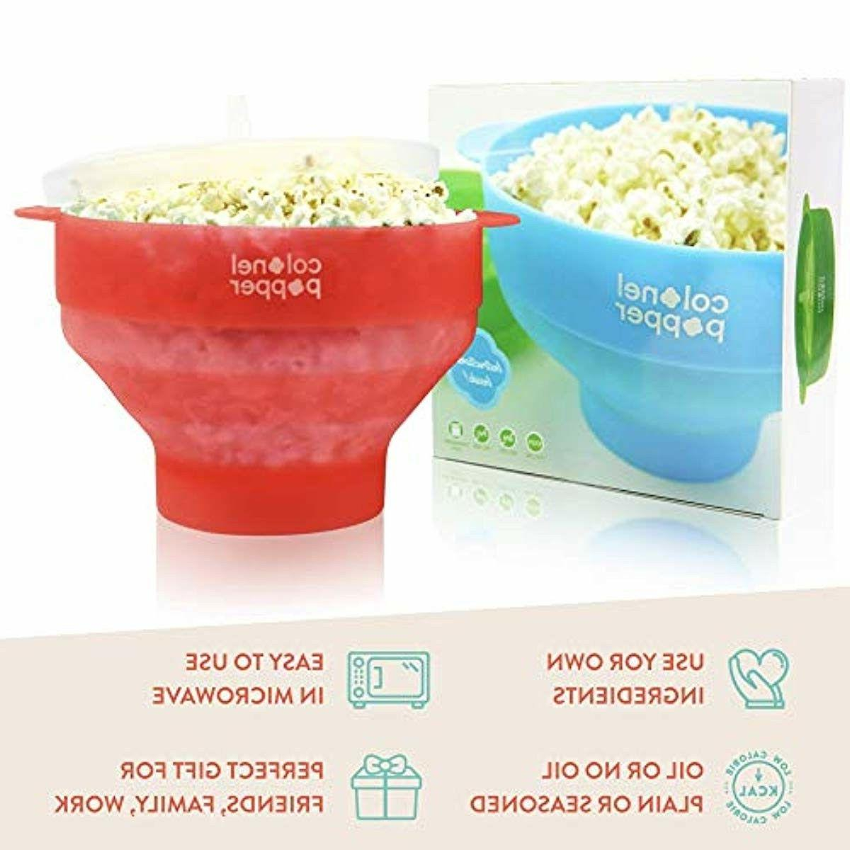 Popcorn Silicone Popper Collapsible Bowl Pop Popper