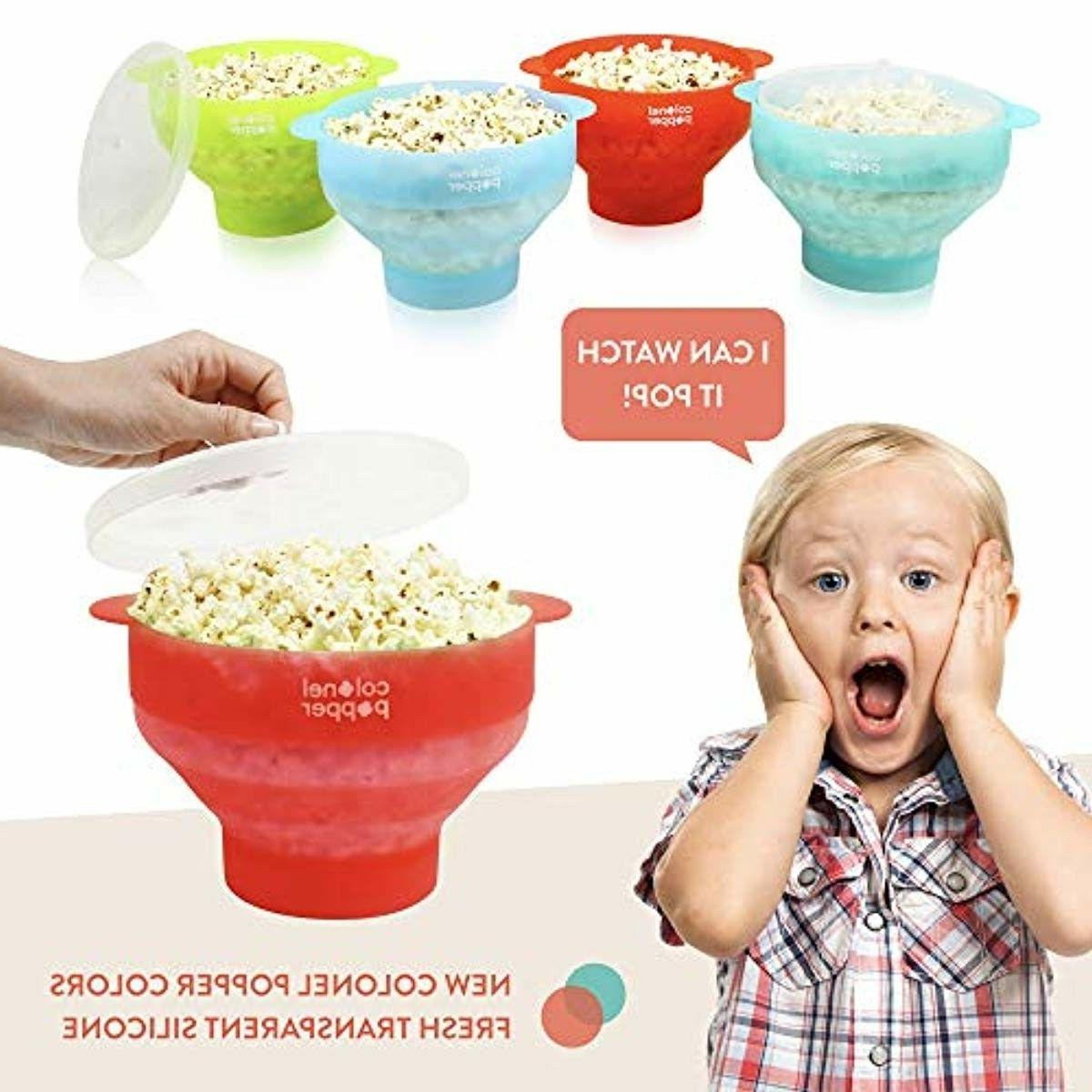 Popcorn Microwave Popper Collapsible Pop Air Popper