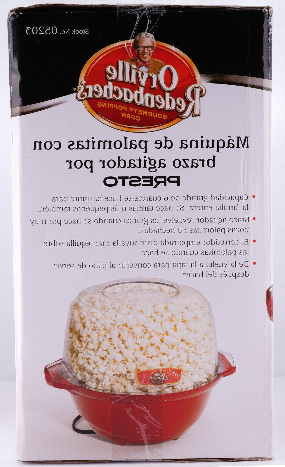 Popcorn Stirring Popper Orville Redenbacher's Brand
