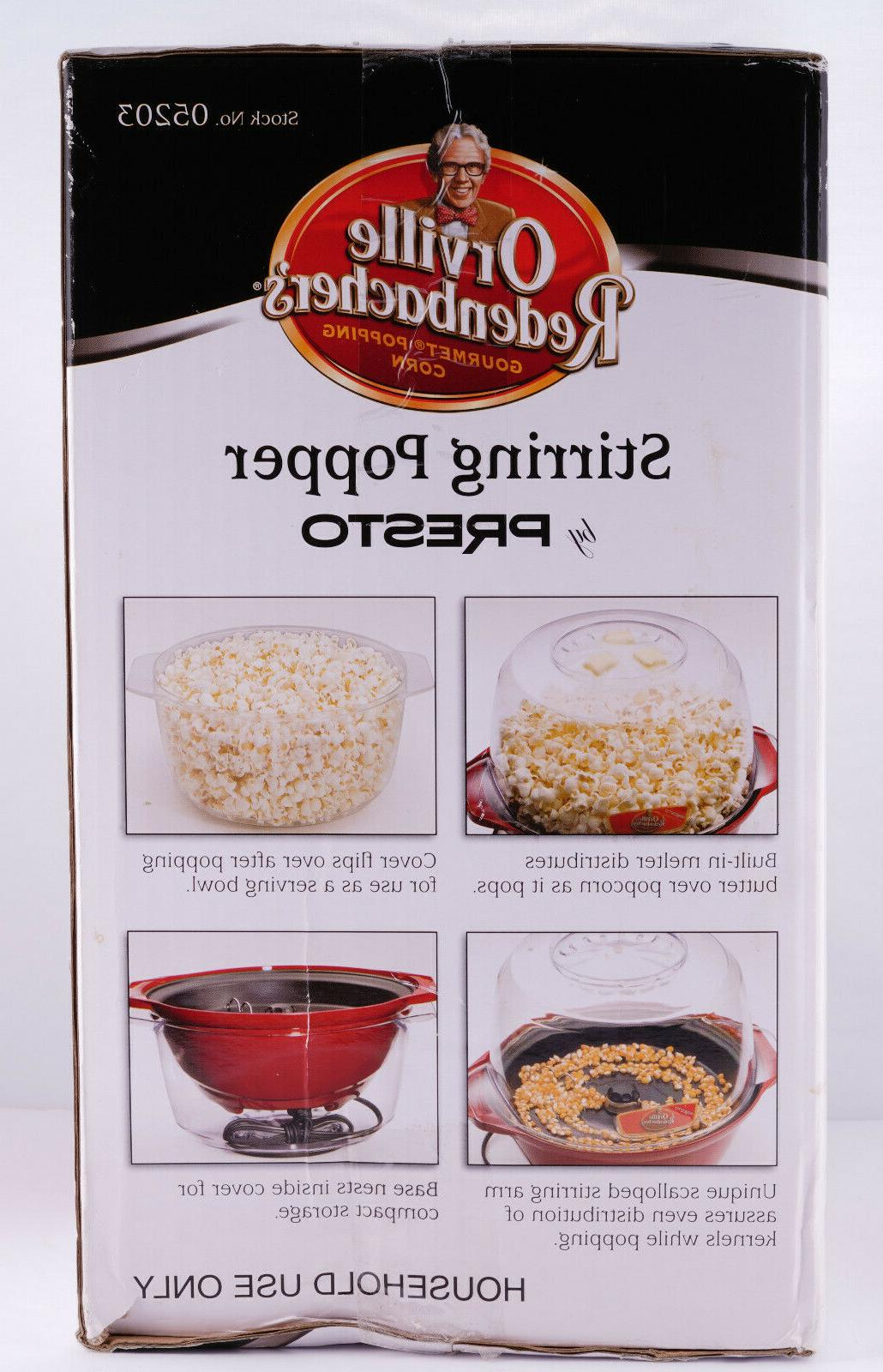 Popcorn Popper Orville Redenbacher's Presto QT Brand
