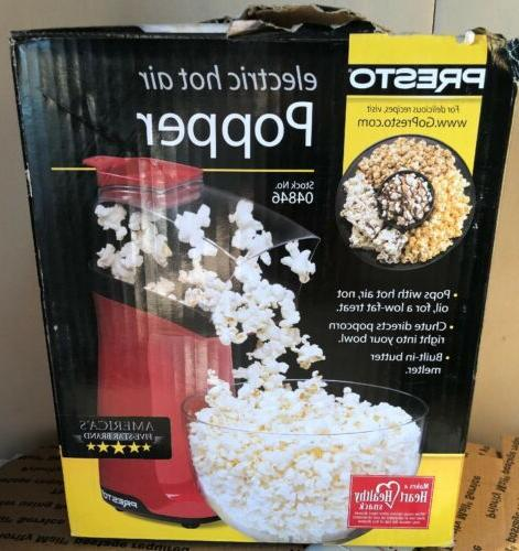red electric hot air popcorn popper butter