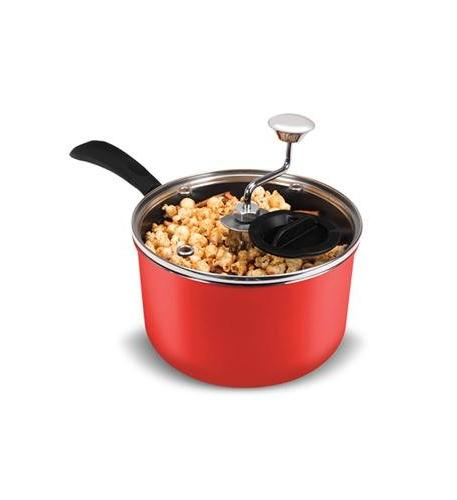 red stovetop popcorn popper