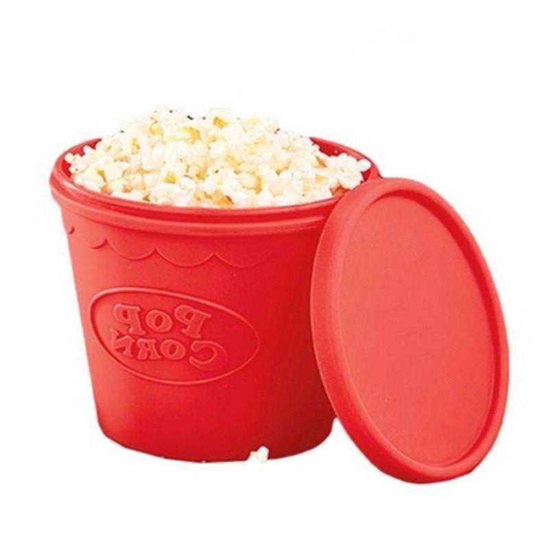 silicone microwave popcorn maker bucket high temperature