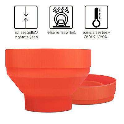 Silicone Microwave Maker Lid, Bowl, Orange