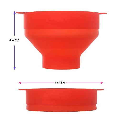 Silicone Microwave with for - Air Popcorn with Handles - Popcorn Bowl - to Use - Healthy Color