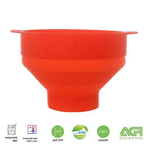 Silicone with Home Popcorn Makers with - Bowl - Easy - Healthy Color