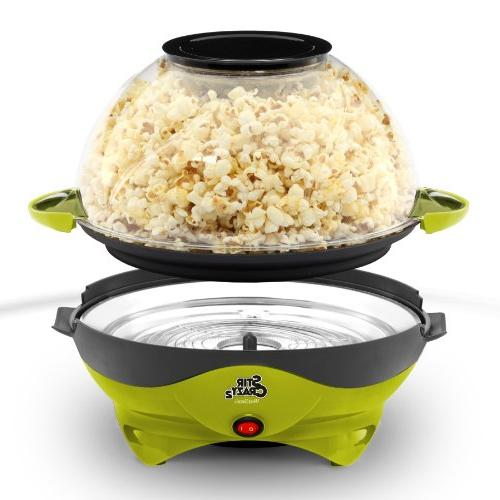 West Crazy Hot Popcorn Stirring Lid for and Green