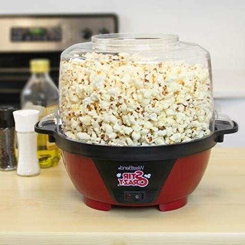 stir crazy electric hot oil popcorn popper