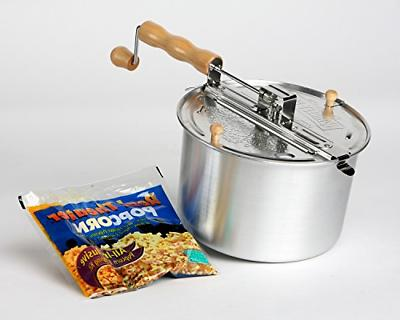 stovetop popper whirley pop with metal gears