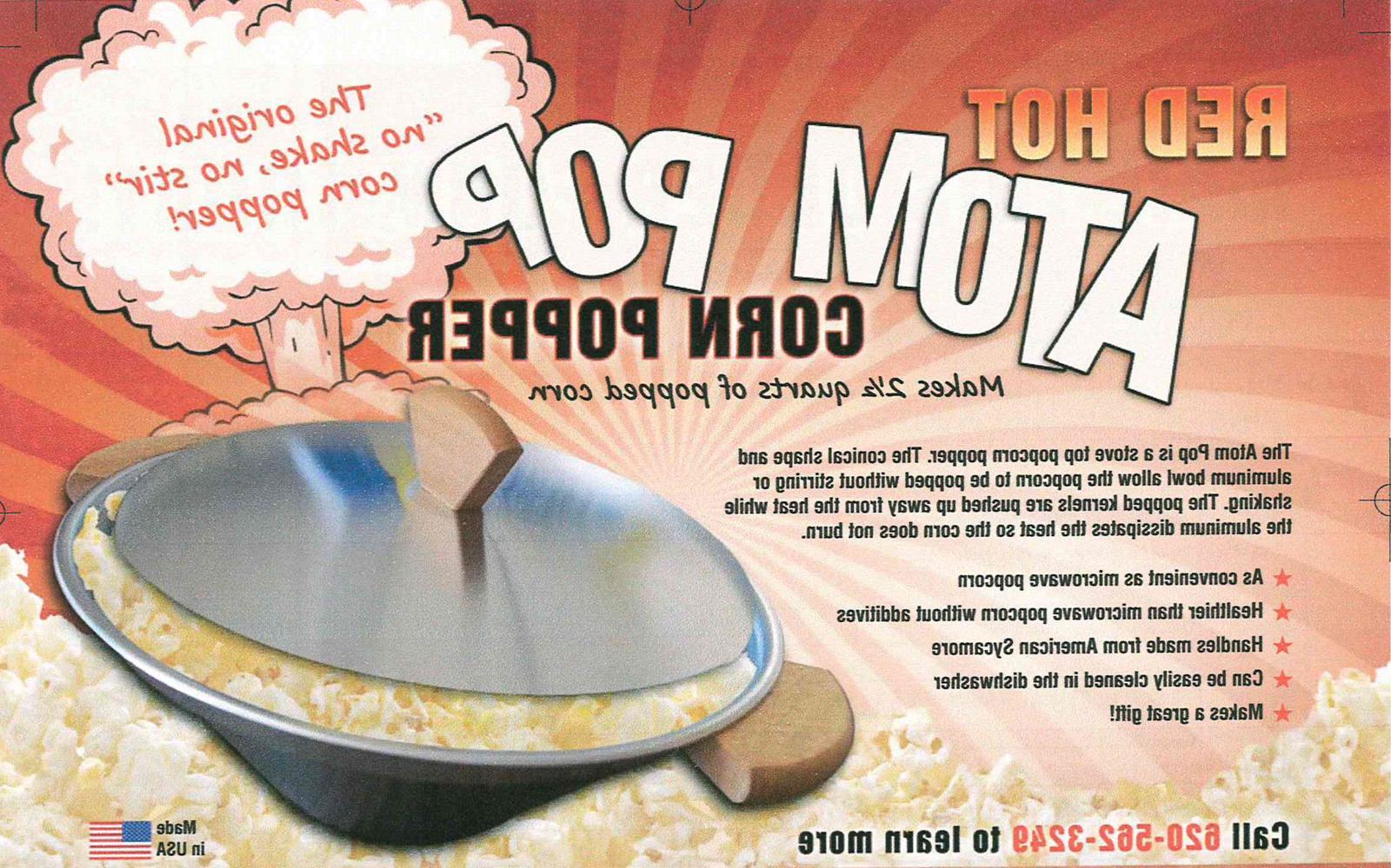 The Original Atom - No Shake / No Stir Pop Popper