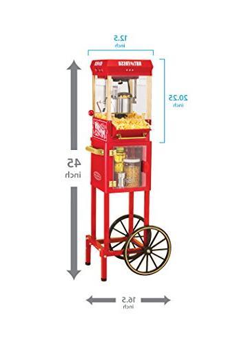 Nostalgia Popcorn Cart Inch, 1 ea