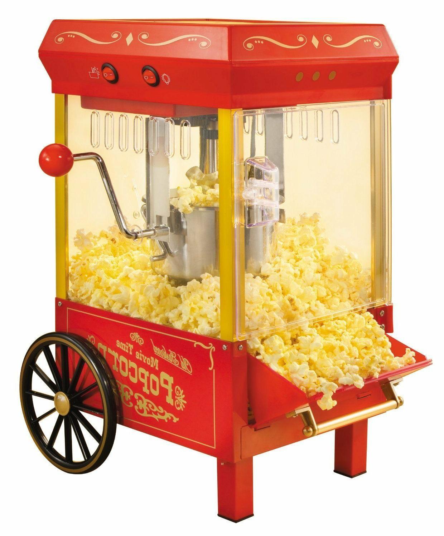 Vintage Kettle Popcorn Maker Machine Cart Stand Commercial o