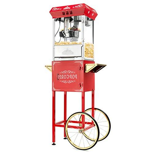 Olde Midway Popcorn with Cart and 8-Ounce Kettle -