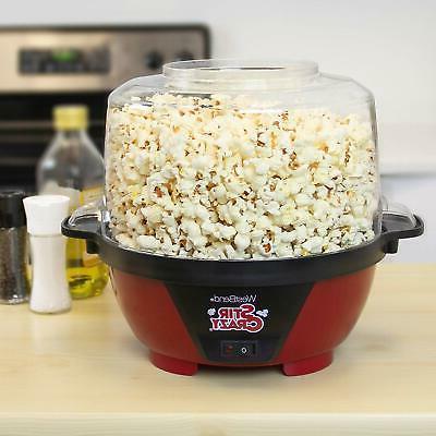 West 82505 Crazy Oil Popcorn Popper Stirring