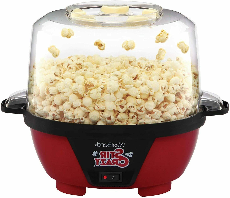 electric hot oil popcorn popper machine stirring