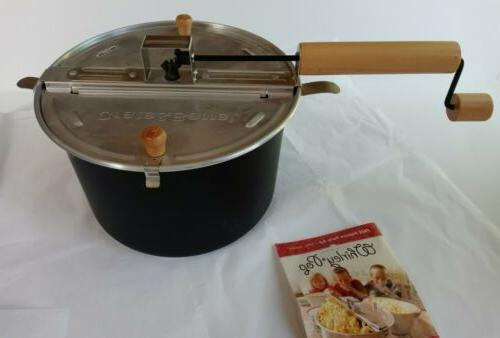 whirley pop stovetop popcorn popper for crate
