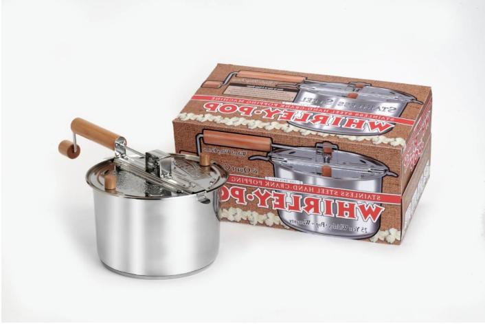 whirley pop stovetop popcorn popper stainless steel