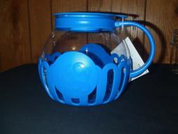 Ecolution Micro-Pop Microwave Popcorn Popper 3QT Blue NEW