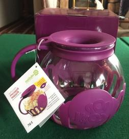 Ecolution Micro-Pop Microwave Popcorn Popper 3QT  NEW Purple
