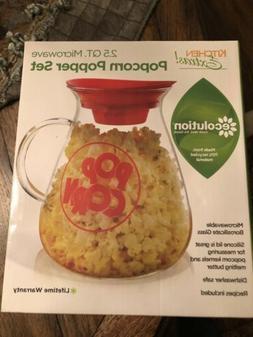Ecolution Micro-Pop Popcorn Popper, 3 QT Capacity Glass Micr