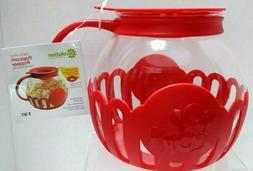 Ecolution Micro-Pop Popcorn Popper 3qt Temperature Safe Glas
